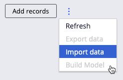 Build Model option
