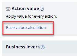 Base Value Calculation in Action Value Menu